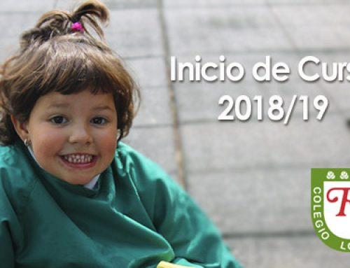 INICIO DEL CURSO 2018-2019